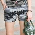 Ejército libre Marca Shorts Mujeres de La Vendimia Pantalones Cortos de Algodón Flojo Ocasional Pantalones Cortos de Camuflaje Militar de Chicas Shorts Camo Gk-9326B