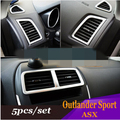 5PC FIT FOR 10- ASX OUTLANDER SPORT RVR CHROME DASH PANEL AIR VENT COVER TRIM LF
