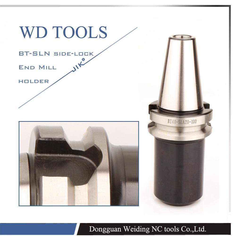 цена на BT50 SLA32 100L Side Lock u drill older Type Clamping 32mm Weldon shank tools U Drill Holder