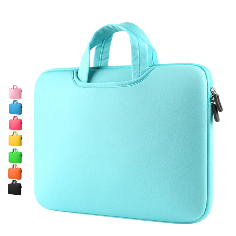 Wholesale Liner Sleeve Solid Handbags Women Men Bag for Macbook Air Pro Retina 13 15 11 12 inch Soft Pure Laptop Sleeve 9 colors
