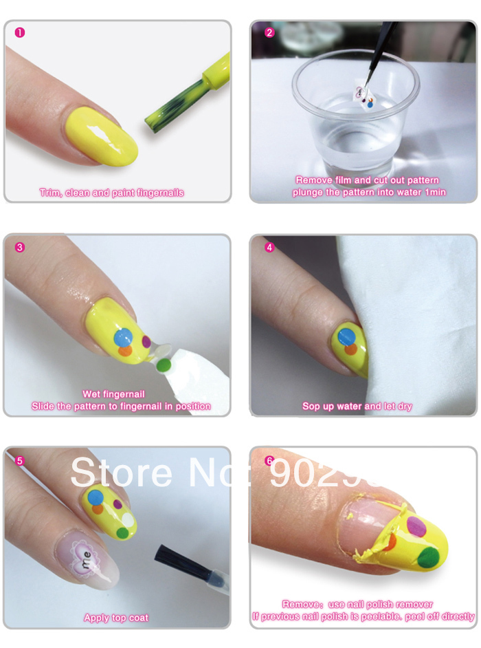 How To Use Water Decal Nail Stickers