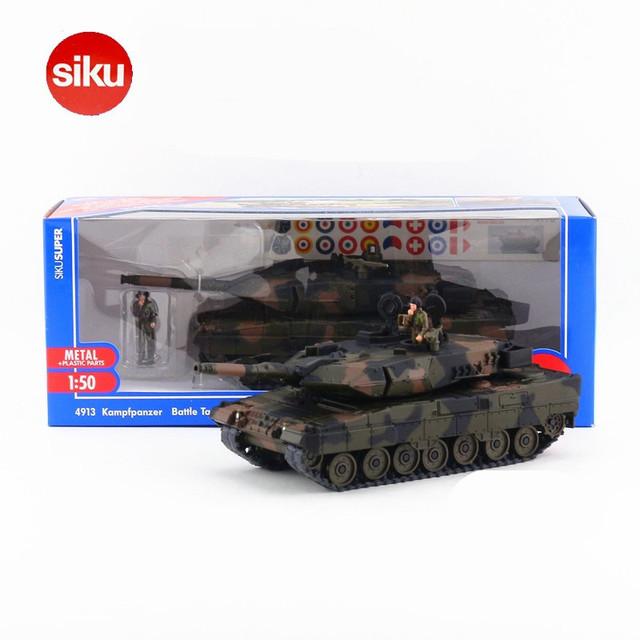 Siku 1:50 Escala Diecast Metal Modelo de Tanque, Tanque de Coches Juguetes de simulación 4913 WJ, juguetes Para Niños, Modelos de colección Brinquedos