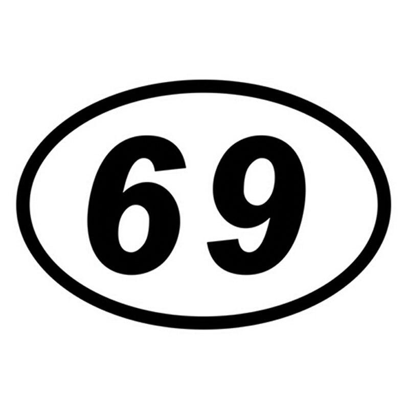 15*10см 69 шестьдесят девять число овал светоотражающие автомобиль мотоцикл наклейки украшения автомобиля аксессуары щепка/черный С4-0093