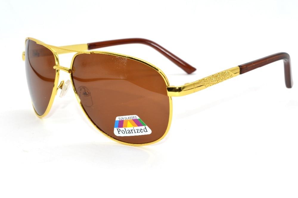 a1af6fcdb VIDA CLARA Clássico Marrom Óculos De Sol Ponte Dupla Lutador Piloto Mens  Custom Made Menos Prescrição Polarizados Míopes-1 To-6
