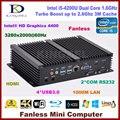 2017 nova chegou fanless core i5 4200u dual core mini pc computador 2 * rs232, vga, HDMI, USB 3.0, 300 M WIFI, suporte do jogo 3D, HTPC