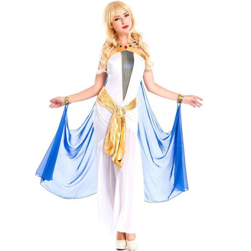 Costumes grecs femmes blanc Sexy indien déesse égyptienne robe de princesse arabe Costumes d'halloween Cleoptra reine Cosplay robe - 2