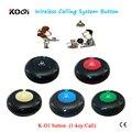 Звонок гость Официант Пейджинговой Системы K-O1 1-ключ кнопка для больницы/клиники/бар/ресторан