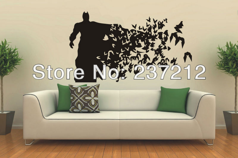 Aliexpresscom  Buy Free Shipping Wall Art BATMAN Vinyl WALL ART - Batman vinyl decal stickers