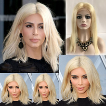 Full Lace Blonde Human Hair Wigs 100% Brazilian Virgin Hair 613 Straight Lace Front wig Glueless Blonde Wigs With Bleached Knots
