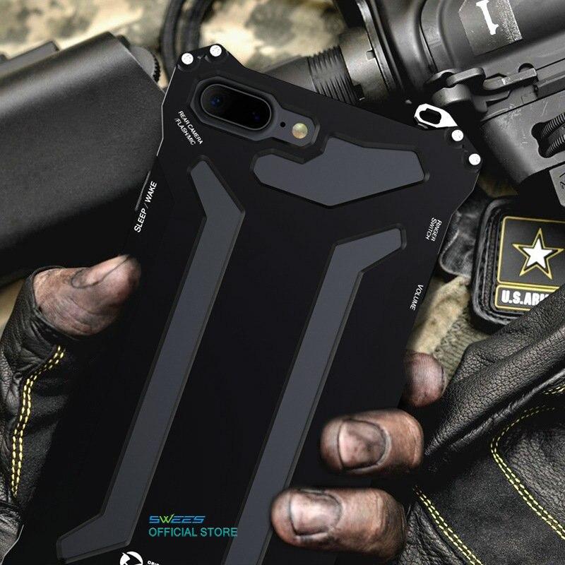 bilder für Stoßfest IPX3 Wasserdicht 360 Schutzhülle Luxus Leistungsstarke Aluminium Metall Gorilla Glas Abdeckung Für iPhone 5 5 s 6 6 s 7 Plus