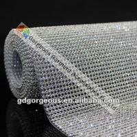 высокое качество Прованс гр rustle сетки обрезки с 3 мм porch кристалл с черный металлик основание для одежды обувь сумки украшения