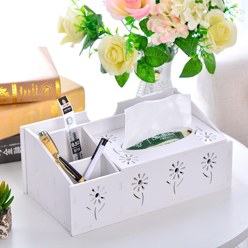 LASPERAL Minisize Desktop Storage Box Multi-functional Tissue Box Remote Control Cell Phone Pencil Organizer Home Storage