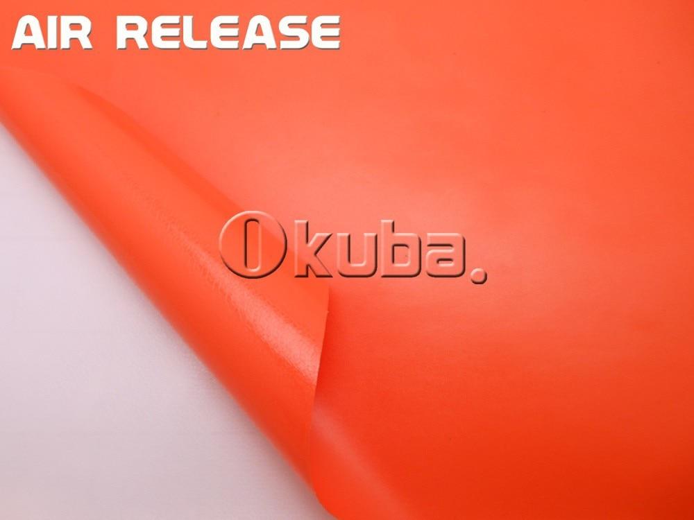 Matte Car Wrap Adhesive Matte Vinyl Film Matt Orange Vinyl Car Wrap Sticker2