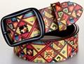 Digital Impreso Cinturón Cinturones de Estilo Retro de Cuero Genuino de la Calidad estupenda Para Yong Niños Estudiante Nueva Tendy Distintivo de Vaquero Correas