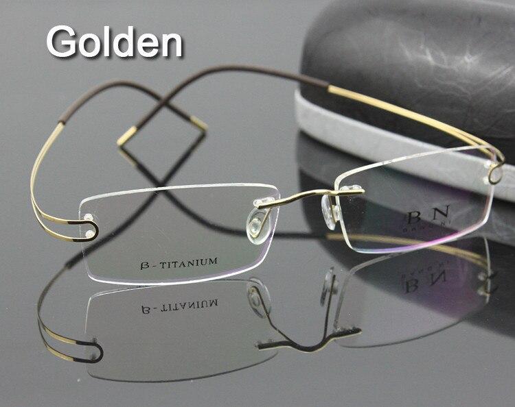 76df7cba4c 8 couleurs sans charnière sans monture sans vis pur titane souple unisexe lunettes  lunettes prescription lunettes cadre optique