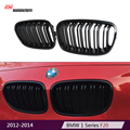 F20 2-slat M style replacement black bumper car styling kidney grill grille for BMW 1 Series 2012-2014 F21 118i M135i 120i 125i