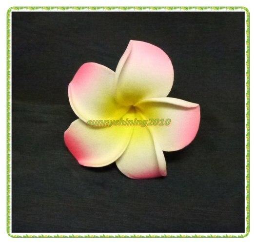 Frangipani flower noivas cabelo clipe 6 cm