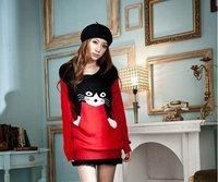 европейский стиль женщины свитер милый кот теплый свитер + бесплатная доставка
