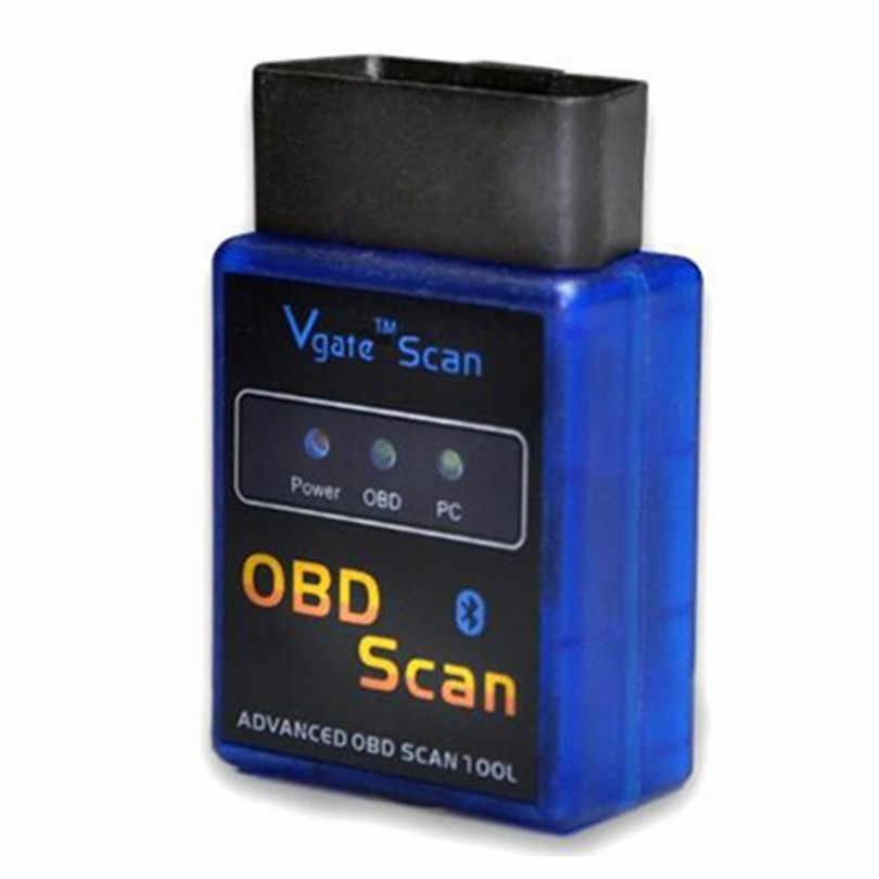 20 pçs/lote Alta Qualidade ELM 327 Bluetooth OBD2/OBD II Funciona Em Android Torque V2.1 Mini ELM327 Interface de Auto Ferramenta de Diagnóstico do carro