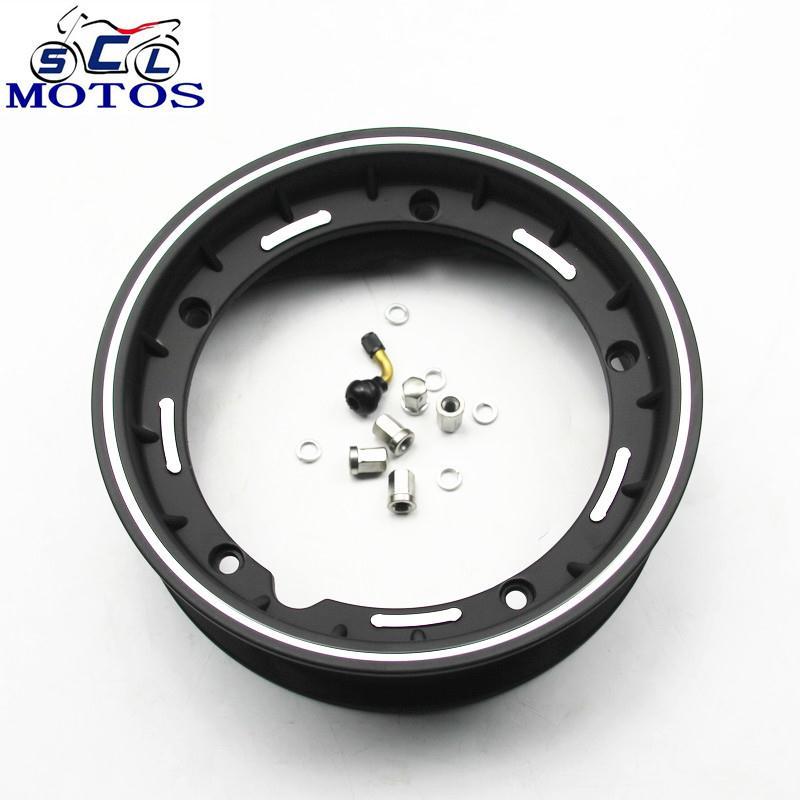 sclmotos 10 inch Scooter Motorcycle rims Case for Piaggio Vespa Aluminum Wheel Rim with Nut Oring