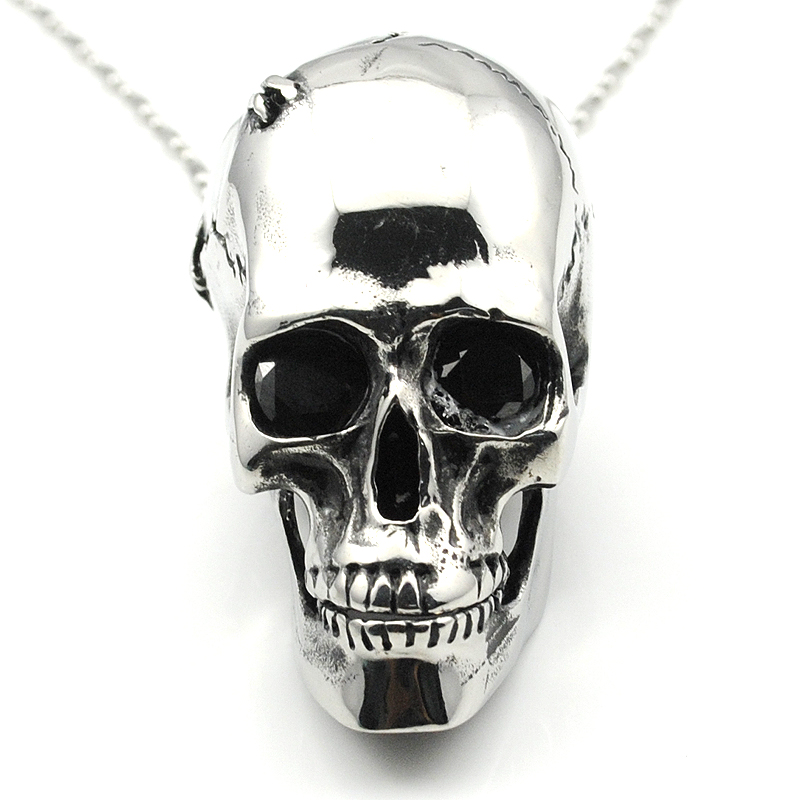 Fashion Removable Teeth Skull Pendant Necklace For Men 316L Stainless Steel Punk High Quality Rock Jewelry Party Gifts HP675