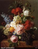 100% расписанный искусство картина маслом репроцентр цветы и плодоовощи