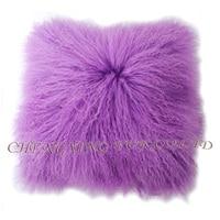 Free Shipping CX D 04H Custom Made Mongolia Lamb Fur Cushion Home Decor