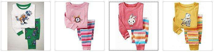 Сезон «Лучший вид», 6 компл./лот(1 Дизайн x 6 размеров), Детская Пижама