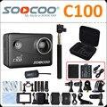 C100 soocoo ntk96660 20mp 4 k wifi action camera vídeo giroscópio com opcional de extensão gps à prova d' água mini 1080 p esporte câmera de ação