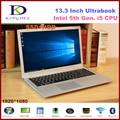 13.3 polegada i5-5200U ultrabook laptop Intel Dual Core 8 GB RAM 256 GB SSD, WI-FI, Bluetooth, Caixa de metal, 1920*1080, o Windows 10