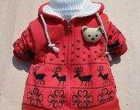 бесплатная доставка! в розницу дети kacket детский мультфильм палевый кашемировые пальто рукавом мода детские зимнее пальто ребенка пальто