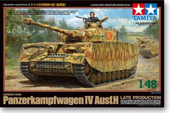 . 1:48 tamiya tank model Ausf H IV H (late) 32584 chariots