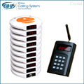 1 keypad+15 pagers+2 charger wireless restaurant food court queue management table buzzer calling system