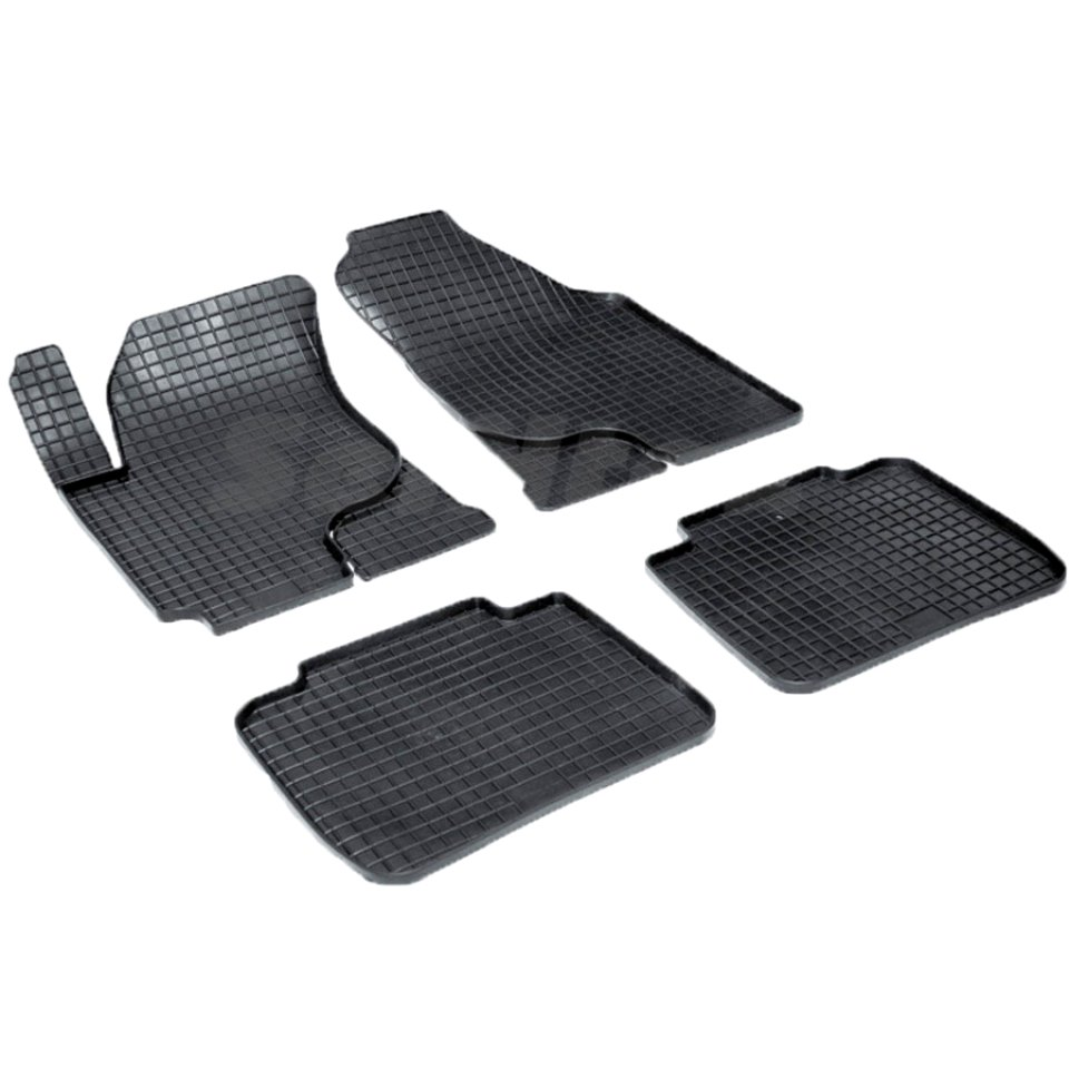 For Kia Cerato 2004-2009 rubber grid floor mats into saloon 4 pcs/set Seintex 00125 фаркоп kia cerato 2004 sd