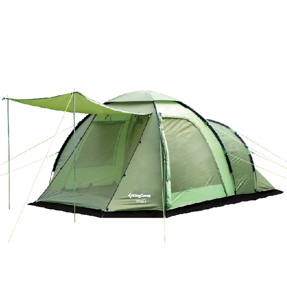 KingCamp Portable 4-Person 3-Season Family Camping Tent Outdoor Waterproof Windproof Tent with Great Room for Trekking Hiking