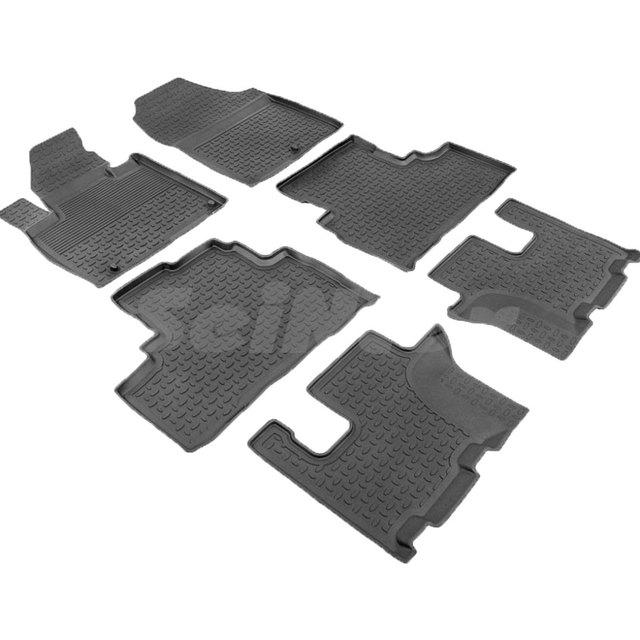 Резиновые коврики для Kia Sorento PRIME (2015-2018) с высокими бортиками (Seintex 86551)