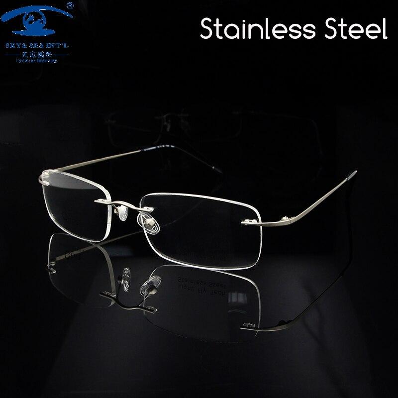 ᐂSky & sea Optical clásico sin montura Gafas Monturas de gafas ...