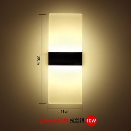 modern 10w simple idea led aluminium wall lamp corridor hallway bedroom bedside lamp bar ktv light bedside lighting ideas