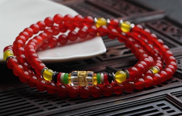 Специальный натуральный красный агат мантра 108 четки браслет Ван Юнь Лаки обогащение