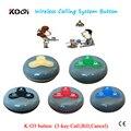 Sistema de timbre de campana de huéspedes K-O3 100% impermeable para restaurant cafe servicio de equipos