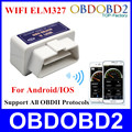 2016 ELM 327 WIFI OBD2 Scanner Hardware V1.5 Supports Android & IOS System ELM327 WIFI Supports All OBDII Protocols In Stock