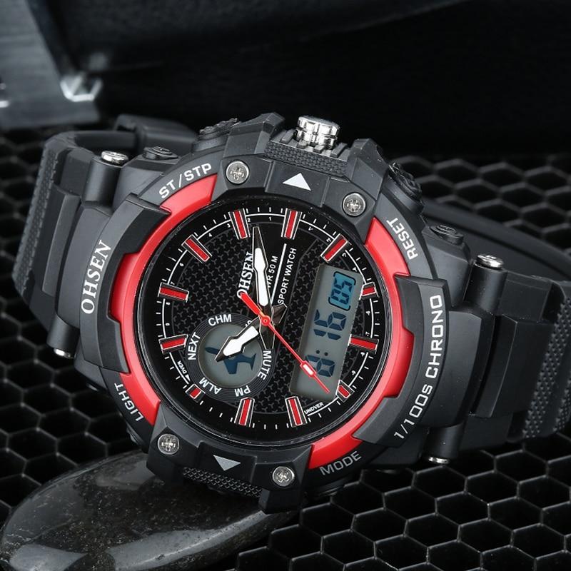 Ohsen merk mannen militaire leger horloge dual-tijdzone quartz - Herenhorloges - Foto 2