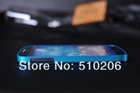 0.7 мм ультратонкий кросс-линия рама алюминий рама чехол Metallic для samsung галактики i9500 с С4, + розничная упаковка минимальный заказ : 1 шт. бесплатная доставка