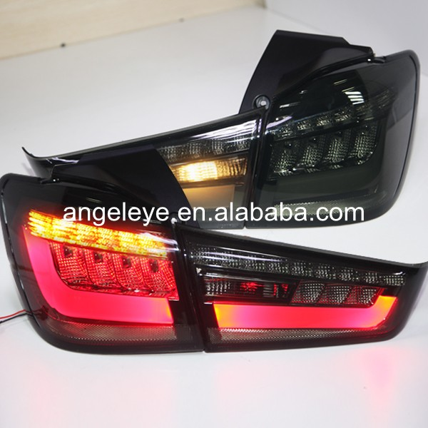 2012-2014 Year For Mitsubishi Outlander Sport ASX RVR LED Rear Lamps Tail Light Smoke Black Color YZ 2003 2008 year for mitsubishi pajero sport montero sport nativa pajero dakar led tail lamp rear light all smoke black color sn