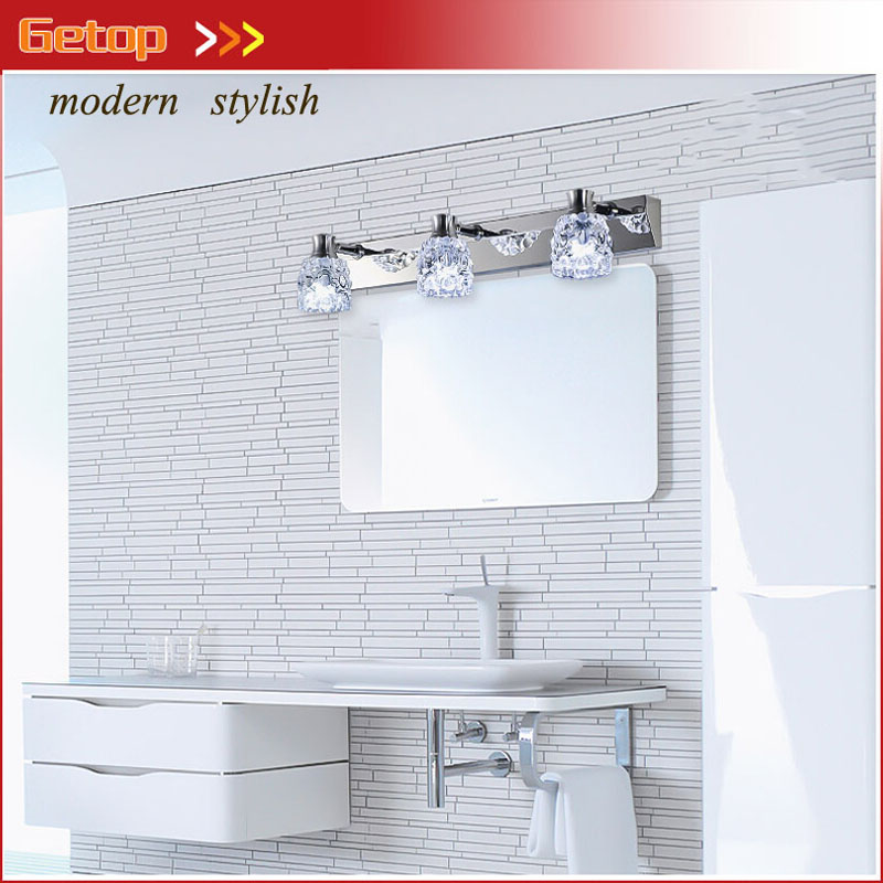 ZX Modern Crystal LED Mirror Wall Lamp Waterproof Anti-fog Frosted Bedroom Cabinet Light Bathroom Corridor Dressing Room Lamp modren acryl led mirror wall lamp waterproof and anti fog dressing room makeup mirror light fixture for bathroom toilet