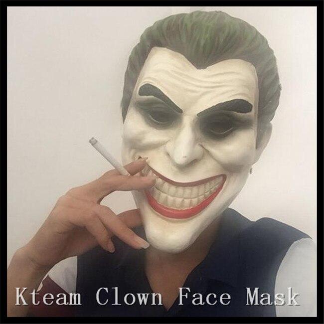 Batman Joker Clown Mask Scary Bank Robber Resin Masks for CS Halloween Masquerade Party Dark Knight Costume Cosplay PropWith Box