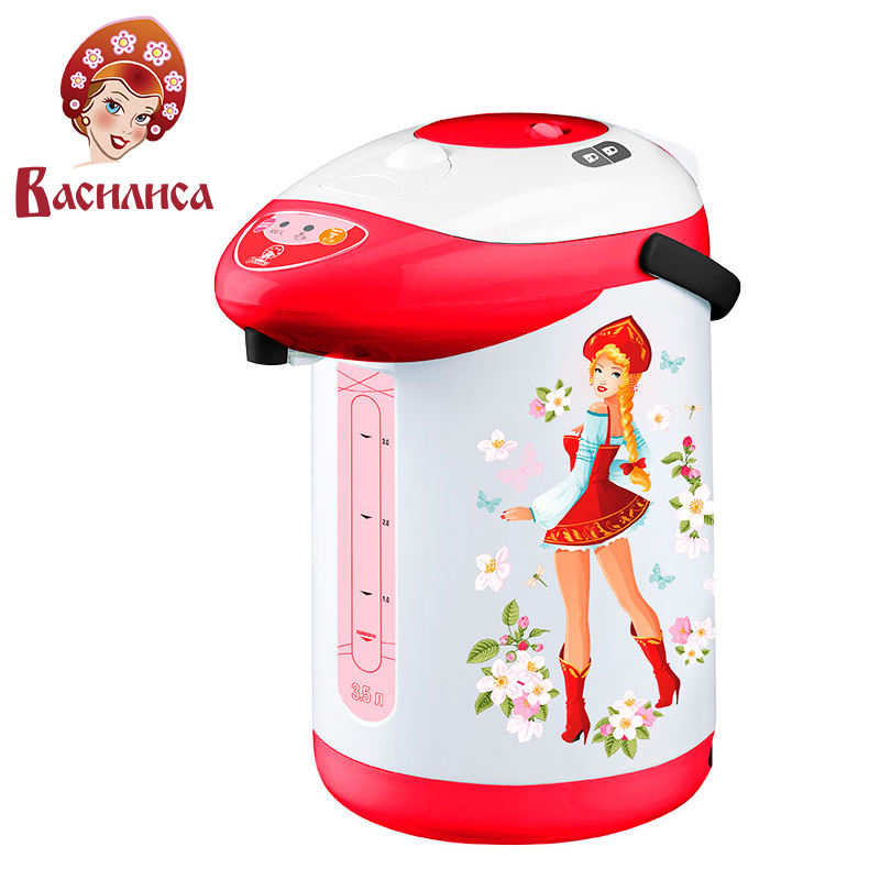 VASILISA TP1-750 Electric Air Pot. Thermopot 3,5L thermo electric thermos insulation kettle temperature control work indicator hotter hx 010 blue electric kettle folding constant temperature control electric water kettle 0 8l thermal insulation teapot