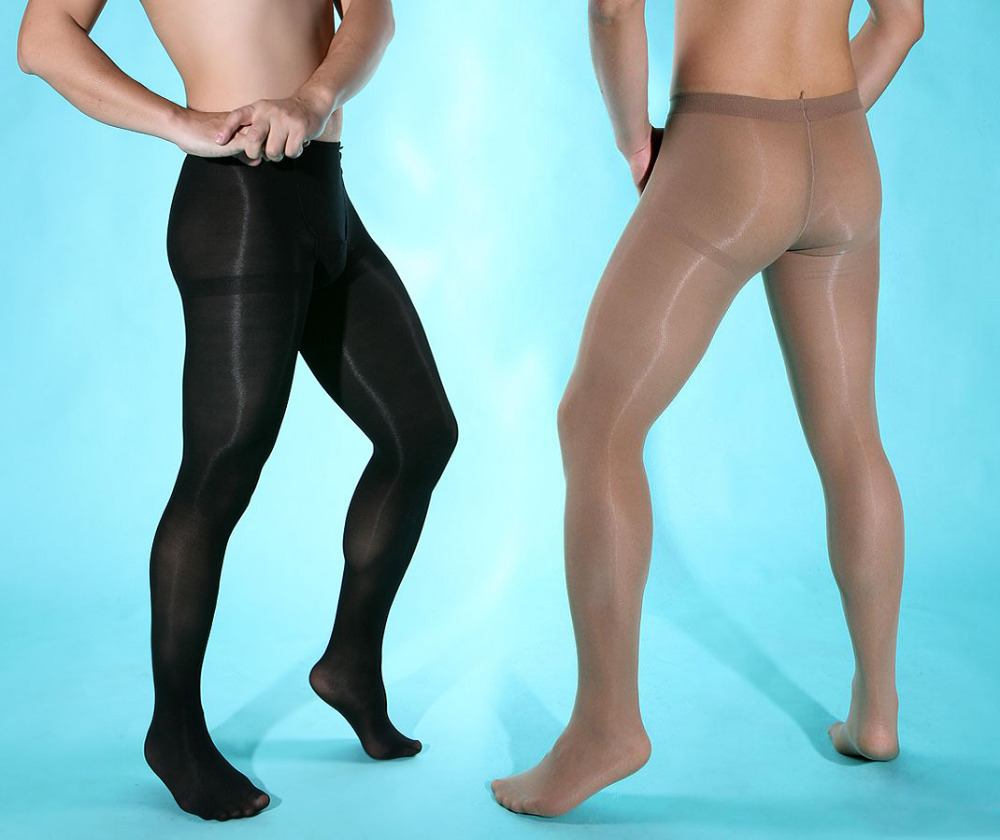 New Generative Men Sexy Pantyhose Sexy Stockings Fun Velvet 80D Thick Front Plus Crotch And Easy Opening Underwear Men Elastic