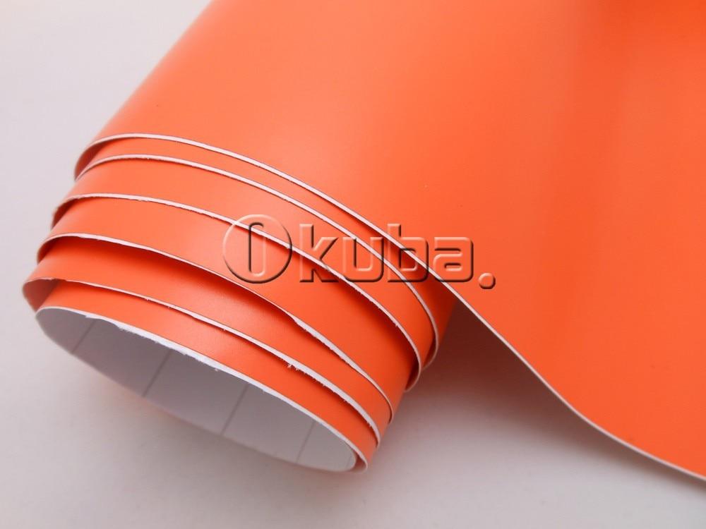 Matte Car Wrap Adhesive Matte Vinyl Film Matt Orange Vinyl Car Wrap Sticker1