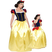 Gold Women Adult Snow White Princess New Fancy Dress Costume Queen Party Cosplay Sexy Ladies costume plus size With Petticoat